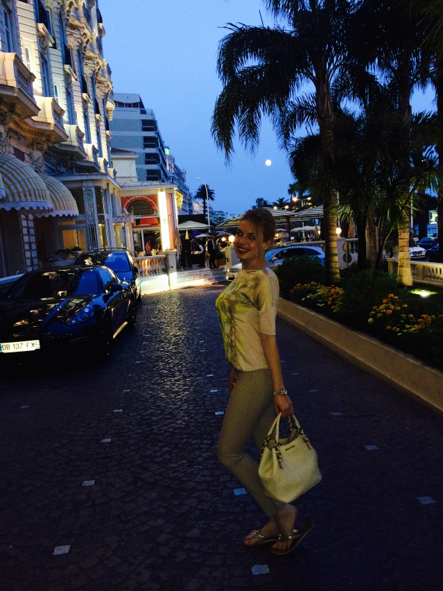 Night time in Cannes