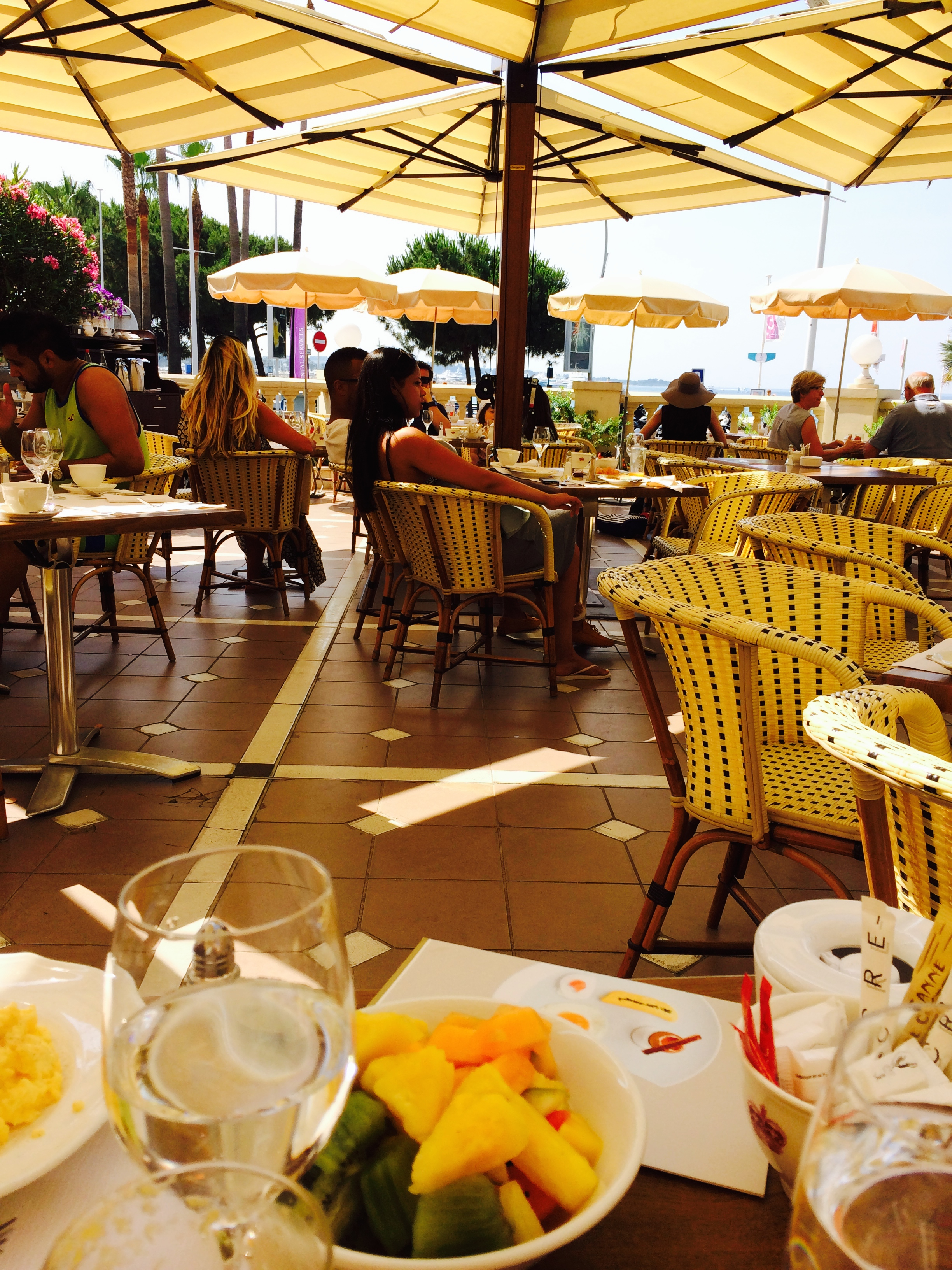 Cannes a jewel of the french riviera cinderella journeys for The terrace brunch
