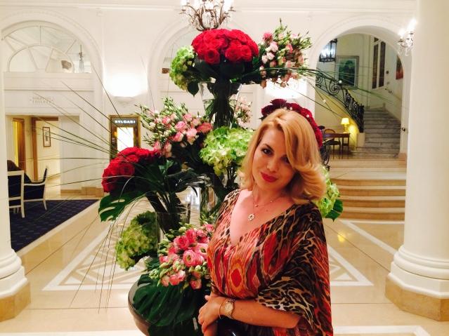 Hotel Lobby flower arrangements
