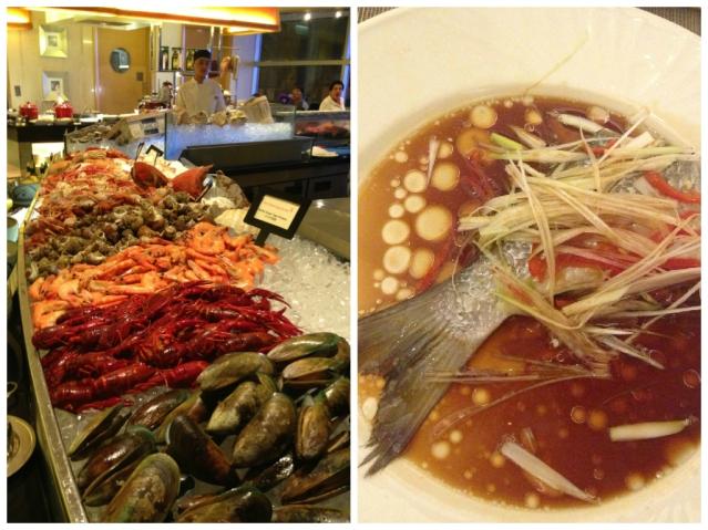 HK-Langham dinner food