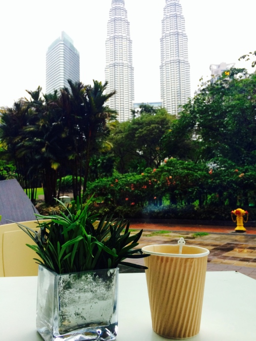 morning coffee with KL Twin towers