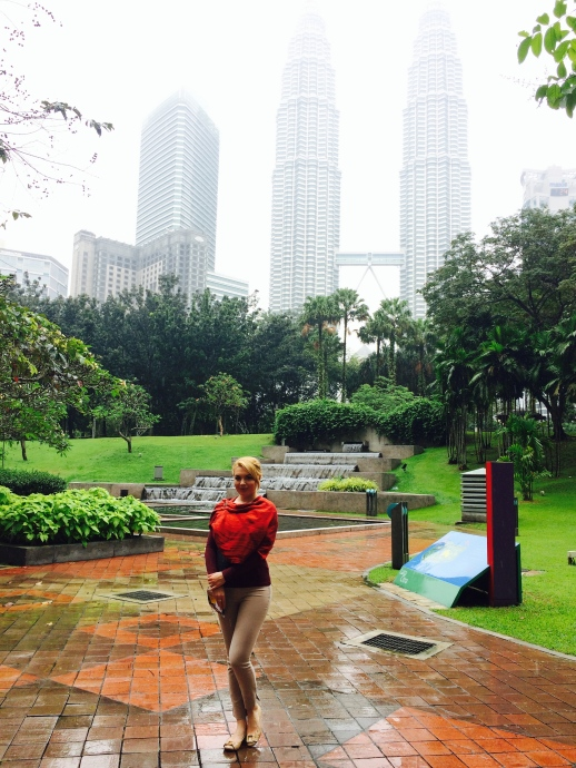 me in the park in front of our hotel in KL