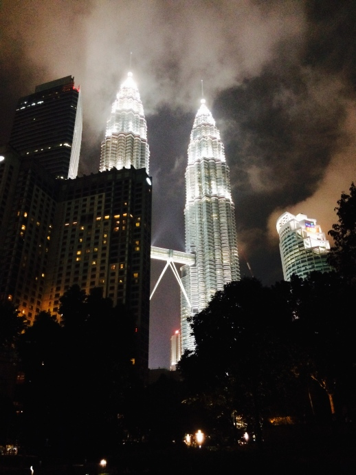 The Petronas Towers night view