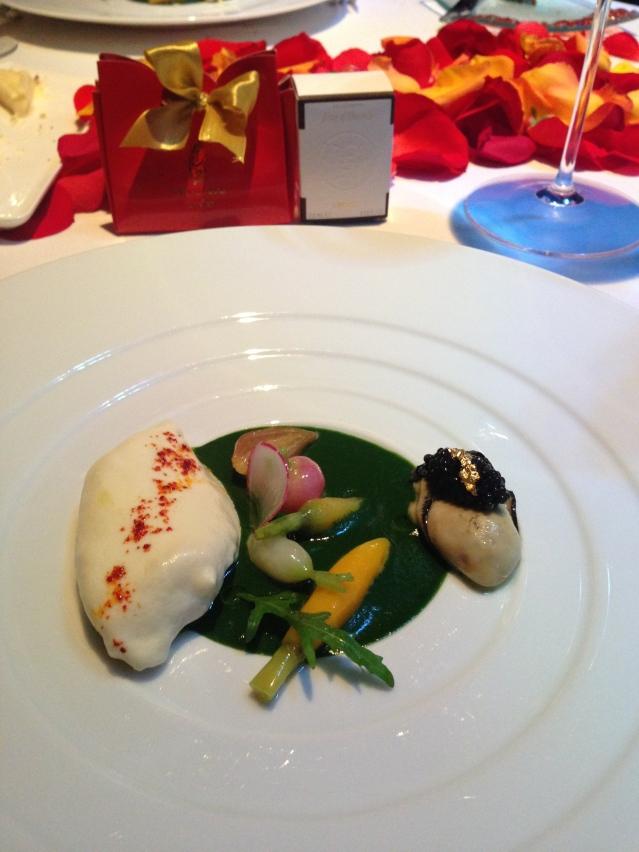 Valentines dinner dish